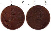 Изображение Монеты Дания 2 эре 1874 Медь VF