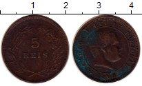 Изображение Монеты Португалия 5 рейс 1905 Бронза VF Карлуш I