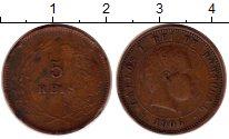 Изображение Монеты Португалия 5 рейс 1906 Бронза VF Карлуш I