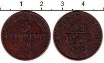 Изображение Монеты Германия Пруссия 3 пфеннига 1869 Медь XF