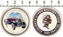 Изображение Монеты Острова Кука 2 доллара 2006 Серебро Proof Ретро-автомобили. Дь