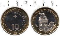 Изображение Монеты Швейцария 10 франков 2010 Биметалл UNC-