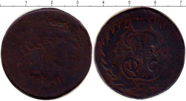 Картинка Монеты 1762 – 1796 Екатерина II 2 копейки Медь 1766