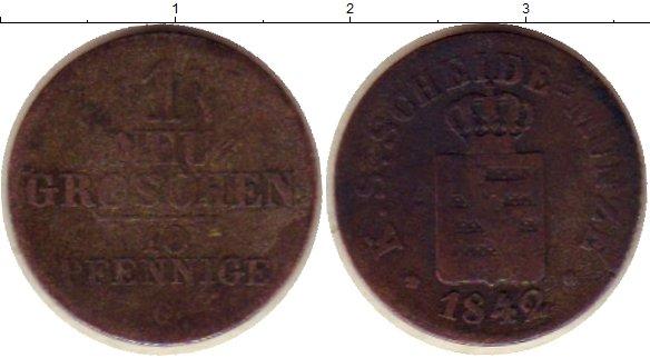 Картинка Монеты Саксония 1 грош Серебро 1842
