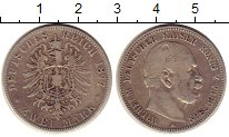 Изображение Монеты Пруссия 2 марки 1877 Серебро VF