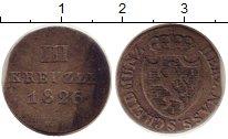 Изображение Монеты Германия Нассау 3 крейцера 1826 Серебро VF