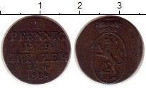 Изображение Монеты Рейсс 1 пфенниг 1828 Медь XF L.M.