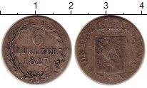 Изображение Монеты Нассау 6 крейцеров 1827 Серебро XF-
