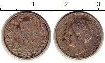 Изображение Монеты Нидерланды 10 центов 1906 Серебро VF