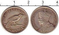 Изображение Монеты Новая Зеландия 6 пенсов 1935 Серебро XF