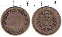 Изображение Монеты Германия 10 пфеннигов 1874 Медно-никель XF-