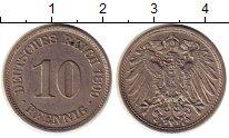 Изображение Монеты Германия 10 пфеннигов 1899 Медно-никель XF+