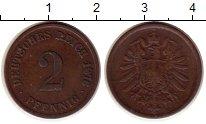 Изображение Монеты Германия 2 пфеннига 1876 Медь XF-