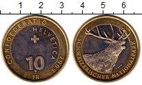 Изображение Монеты Швейцария 10 франков 2009 Биметалл UNC-