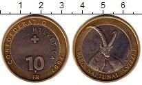 Изображение Монеты Швейцария 10 франков 2007 Биметалл UNC-