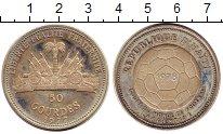 Изображение Монеты Гаити 50 гурдес 1977 Серебро Proof- Чемпионат  мира  по