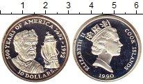 Изображение Монеты Новая Зеландия Острова Кука 10 долларов 1990 Серебро Proof-
