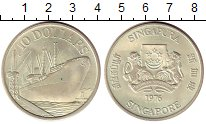 Изображение Монеты Сингапур 10 долларов 1976 Серебро UNC