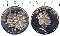 Изображение Монеты Новая Зеландия Токелау 5 тала 1989 Серебро Proof-