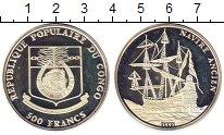 Изображение Монеты Конго 500 франков 1991 Серебро Proof-