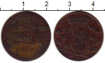 Изображение Монеты Германия Саксен-Кобург-Саалфелд 2 пфеннига 1817 Медь XF-
