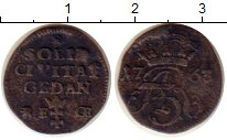 Изображение Монеты Польша Данциг 1 шиллинг 1763 Серебро VF