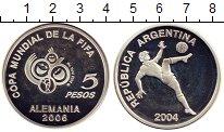 Изображение Монеты Аргентина 5 песо 2004 Серебро Proof