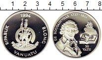 Изображение Монеты Вануату 50 вату 1994 Серебро Proof