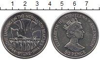 Изображение Монеты Остров Святой Елены 50 пенсов 1994 Медно-никель UNC- День-Д Нормандия