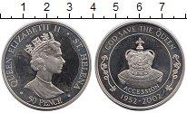 Изображение Монеты Остров Святой Елены 50 пенсов 2002 Медно-никель UNC- Корона,Елизавета II
