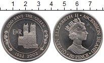 Изображение Монеты Великобритания Остров Вознесения 50 пенсов 2002 Медно-никель UNC-
