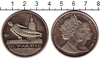 Монета Виргинские острова 1 доллар 2012 Олимпиада 2012 Медно-нике...