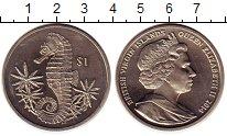 Изображение Монеты Виргинские острова 1 доллар 2014 Медно-никель UNC- Морской конек Елизав