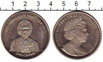 Изображение Монеты Фолклендские острова 1 крона 2013 Медно-никель UNC- Маргарет Тэтчер,Елиз
