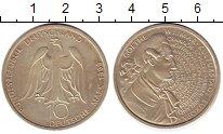 Изображение Монеты ФРГ 10 марок 1999 Серебро UNC- 250-летие Гёте,F