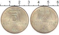 Изображение Монеты ФРГ 5 марок 1971 Серебро UNC- Дюрер,D