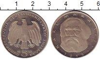 Изображение Монеты ФРГ 5 марок 1983 Медно-никель UNC- Карл Маркс,J