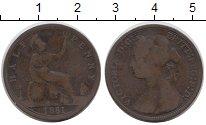 Изображение Монеты Великобритания 1/2 пенни 1881 Медь VF Виктория