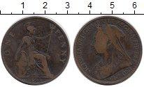 Изображение Монеты Великобритания 1 пенни 1899 Бронза VF Королева Виктория