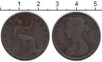 Изображение Монеты Великобритания 1/2 пенни 1890 Бронза VF Королева Виктория