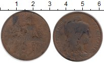 Изображение Монеты Франция 10 сантим 1898 Бронза VF