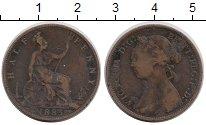 Изображение Монеты Великобритания 1/2 пенни 1885 Бронза VF Королева Виктория