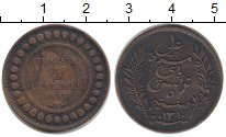 Изображение Монеты Тунис 5 сантим 1893 Бронза XF-