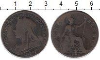 Изображение Монеты Великобритания 1 пенни 1896 Бронза VF Виктория