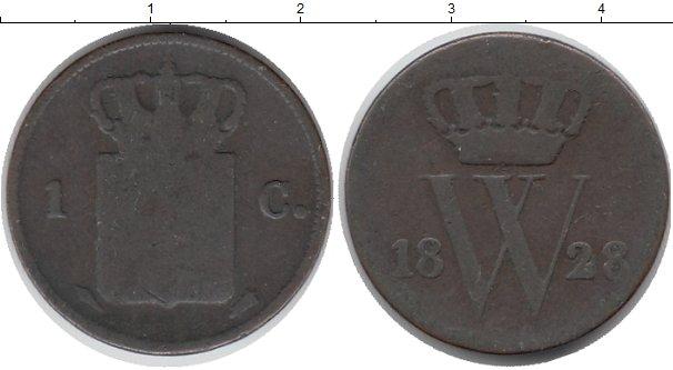 Картинка Монеты Нидерланды 1 цент Медь 1828