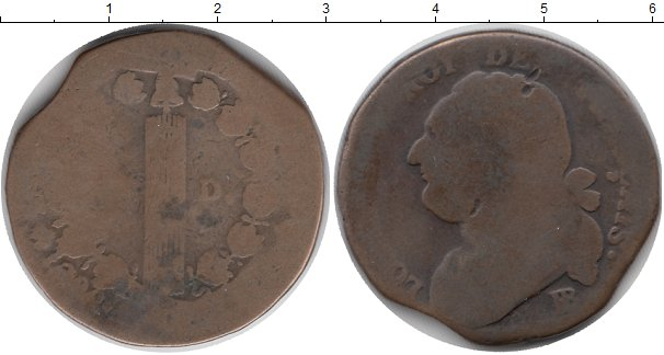 Картинка Монеты Франция 12 денье Бронза 0