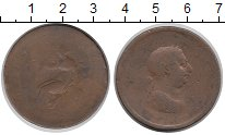 Изображение Монеты Великобритания 1 пенни 0 Медь VF Георг III
