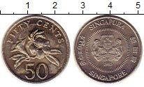 Изображение Монеты Сингапур 50 центов 1985 Медно-никель XF Цветы