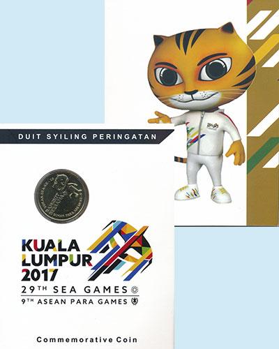 Изображение Подарочные монеты Малайзия 1 рингит 2017 Латунь UNC