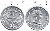 Изображение Монеты Уругвай 20 сентесим 1965 Алюминий UNC- Артигас